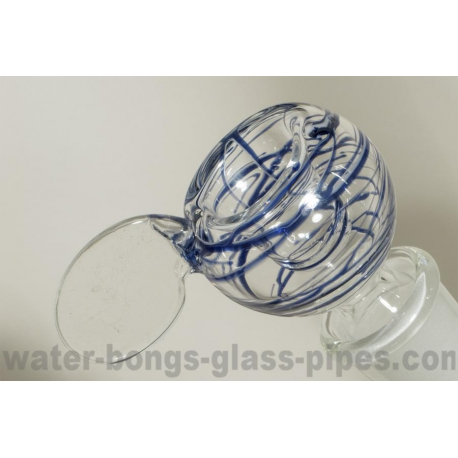 Glass Bowl with Difusser, Blue Vortex