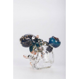 Glass Bubbler Crystal Skull