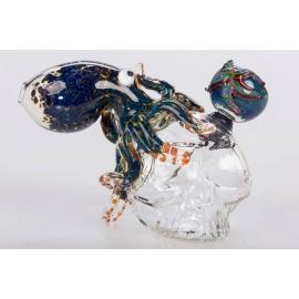 Glass Bubbler Crystal Skull