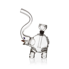 Elephant Glass Bubbler, Clear
