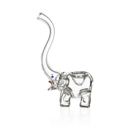 Elephant Glass Pipe, Clear