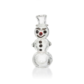 Mini Snowman Glass Pipe