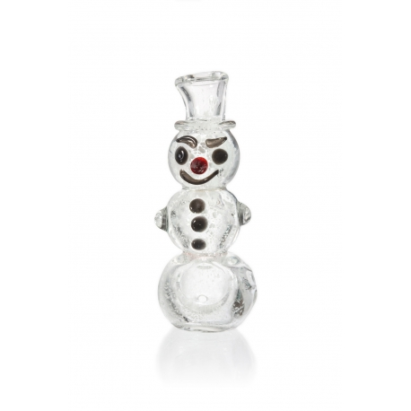 Mini Snowman Glass Pipe