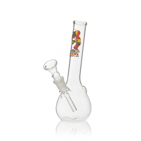 Mini Lab Glass Bong Rasta