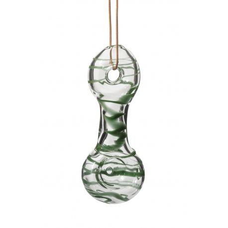 Necklace Glass Smoking Pipe Green