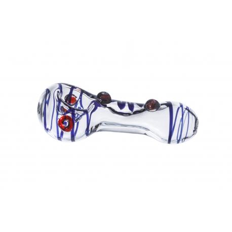 Free Art Glass Spoon Blue