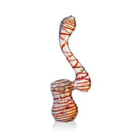 Glass Bubbler Pipe 135 Red