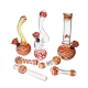 Red Party Glass Bongs and Pipes Set