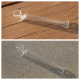 Clear One Hitter with Curved Bowl