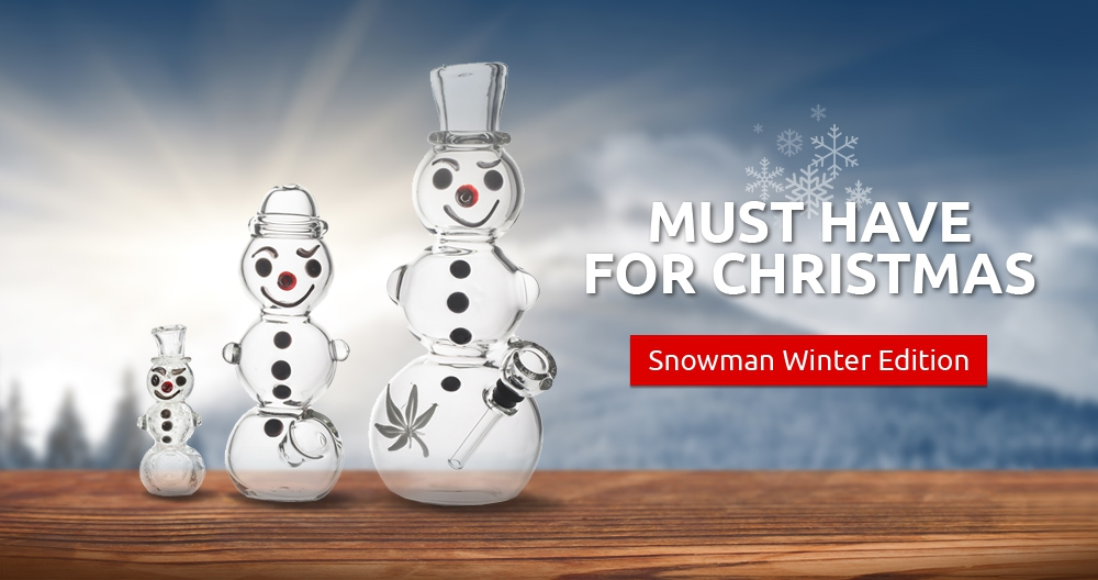 Snowman Glass Pipes and Bongs