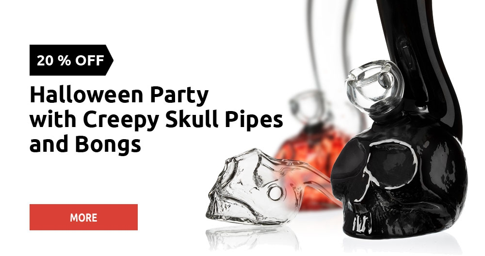 Halloween SALE - skull bongs and pipes